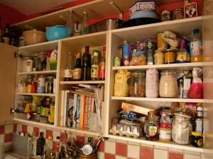 The cupboards...