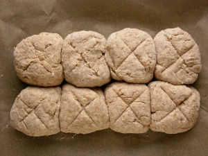 Uncooked mini soda breads