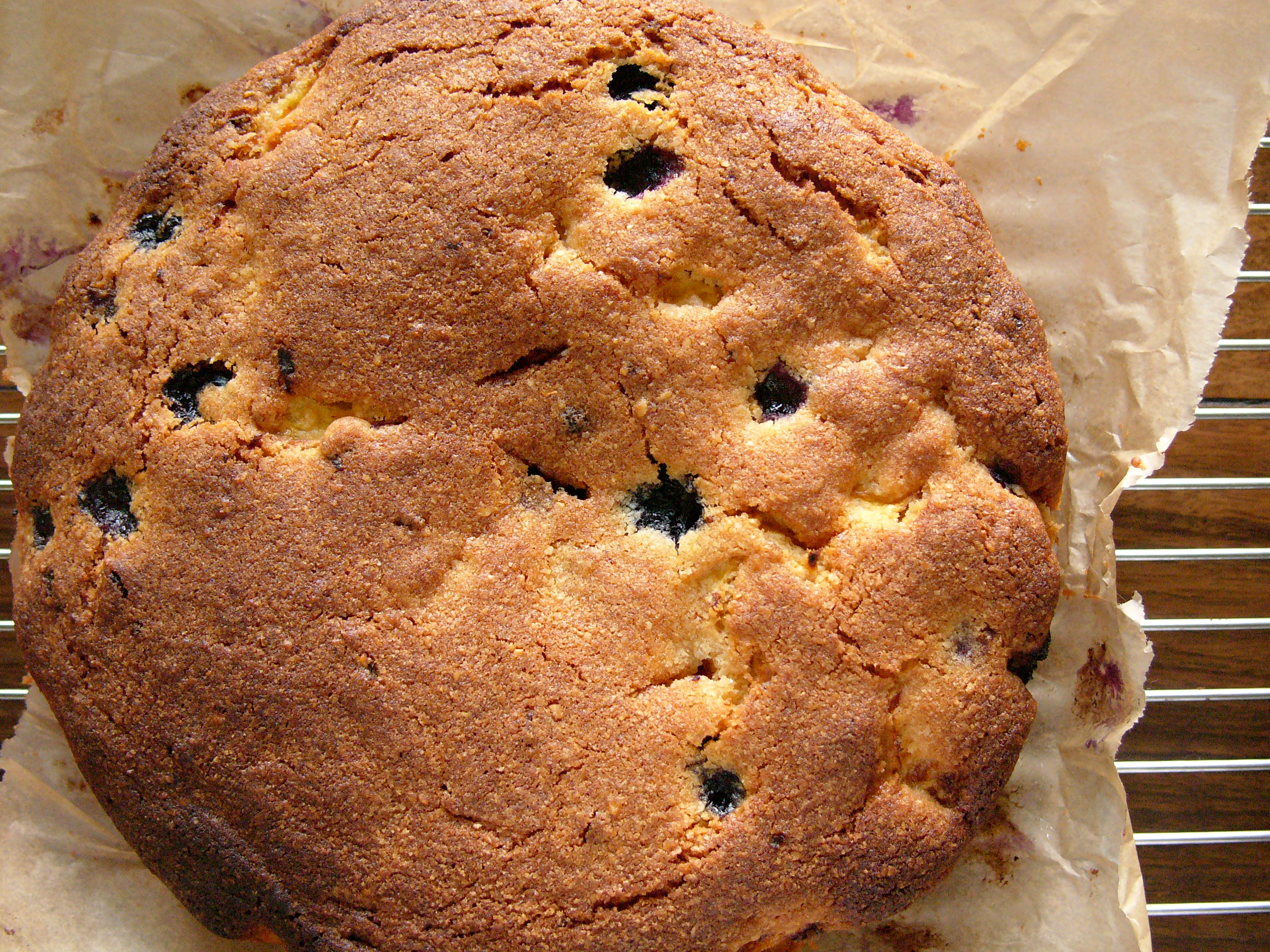 Nigel Slater's Blueberry and Peach Cake
